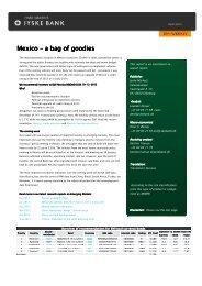 EM Weekly: Mexico – a bag of goodies - Jyske Bank