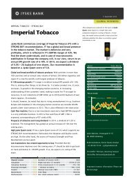 New Case: Imperial Tobacco - Jyske Bank