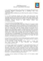Adatvédelmi elvek és játékszabályzat (PDF) - Aldi