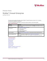 Firewall Enterprise 8.2.0 Release Notes - McAfee