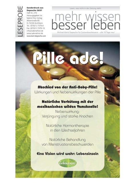 Verpackung antibabypille grüne Wie sicher