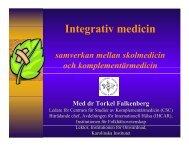 Integrativ medicin - Karolinska Institutet