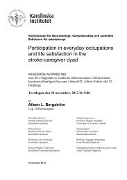 Participation in everyday occupations and life satisfaction in the ...