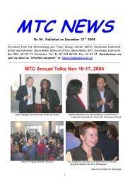 MTC News 54 (Pdf file, 3 Mb) - Karolinska Institutet