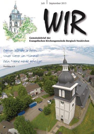 WIR Juli - September 2013 - Evangelische Kirchengemeinde ...