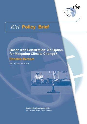 Ocean Iron Fertilization: An Option for Mitigating Climate Change?