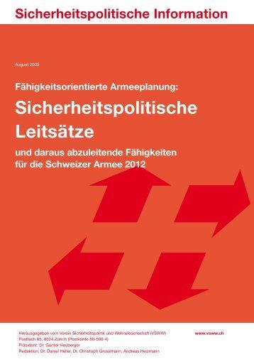 2009/08: Fähigkeitsorientierte Armeeplanung ... - ETH Zürich