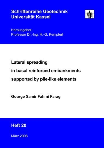 Lateral spreading in basal reinforced embankments supported by ...