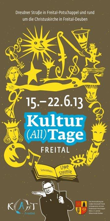 Freitaler Kultur(all)tage 2013 - Diakonie Dippoldiswalde