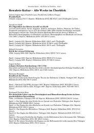 Bewahrte Kultur – Alle Werke im Überblick - WBG