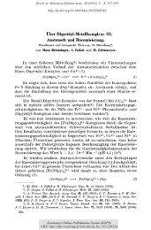 Metallionen und biologische Wirkung, 33. Mitteilung - KOPS
