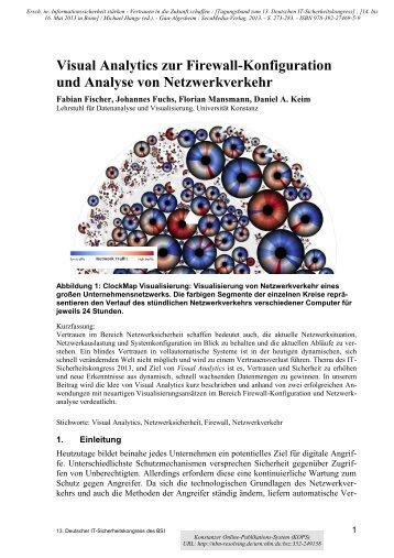 Visual Analytics zur Firewall-Konfiguration und Analyse von ... - KOPS