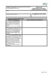 Anlage zum Genehmigungsverfahren