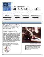 PHS Weekly, Jan 10 - Krieger School of Arts & Sciences - Johns ...