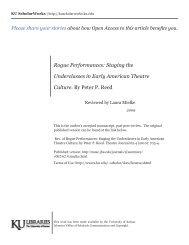Rogue Performances: Staging the Underclasses ... - KU ScholarWorks