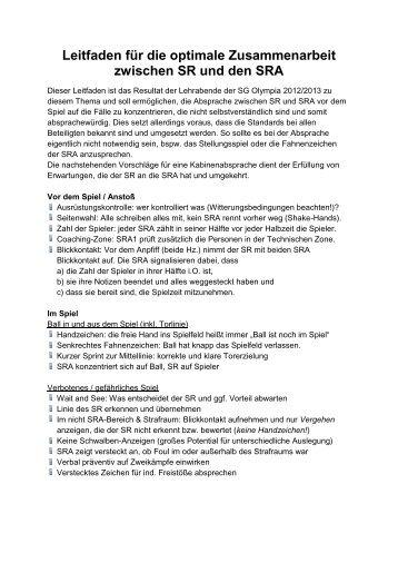 Leitfaden für die optimale Zusammenarbeit zwischen SR ... - Kvfz.de