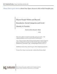 Context of Maya studies - KU ScholarWorks - The University of Kansas