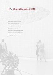 Geschäftsbericht 2012 - KVG