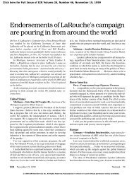 Endorsements of LaRouche's campaign are pouring in from around ...