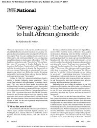 'Never again': the battle cry to halt African genocide - Executive ...