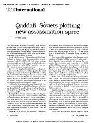 Qaddafi, Soviets Plotting New Assassination Spree