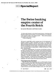 The Swiss Banking Empire: Center of the Fourth Reich