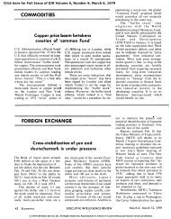 Commodities: Copper Price Boom Betokens Creation of - Executive ...