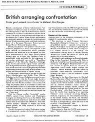 British Arranging Confrontation - Executive Intelligence Review