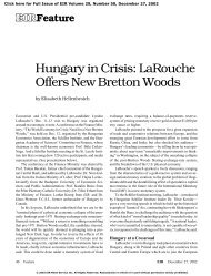 Hungary in Crisis: LaRouche Offers New Bretton Woods