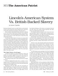 Lincoln's American System Vs. British-Backed Slavery - Executive ...