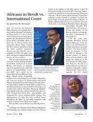 africans in Revolt vs. International court