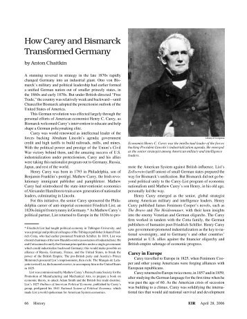 How Carey and Bismarck Transformed Germany by Anton Chaitkin
