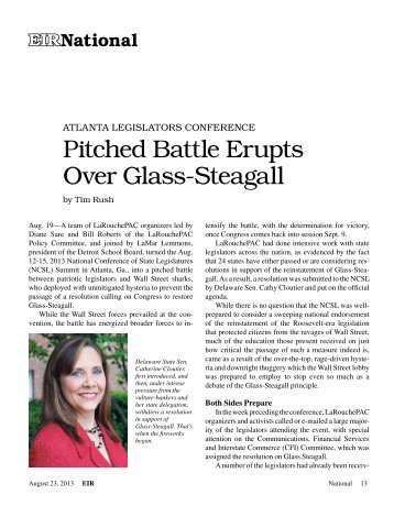 Pitched Battle erupts over glass-steagall