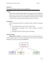 Perancangan Aritmetic Logic Unit (ALU) pada FPGA - Lecturer EEPIS