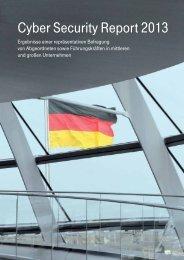 Cyber Security Report 2013 von T-Systems - Deutsche Telekom
