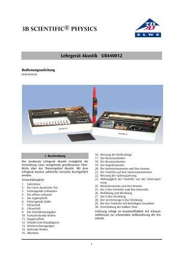 Lehrgerät Akustik U8440012 - 3B Scientific