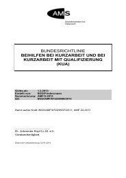 Bundesrichtlinie Kurzarbeit - Arbeitsmarktservice Österreich