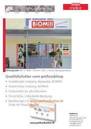 Das gesamte Sortiment im Biomill-Shop (pdf) - Melior