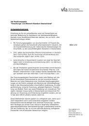 """vfa-Positionspapier """"Forschungs- und Biotech-Standort Deutschland ..."""