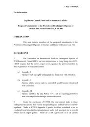 For information Legislative Council Panel on Environmental Affairs ...