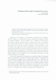 O espaço cénico - Universidade do Porto