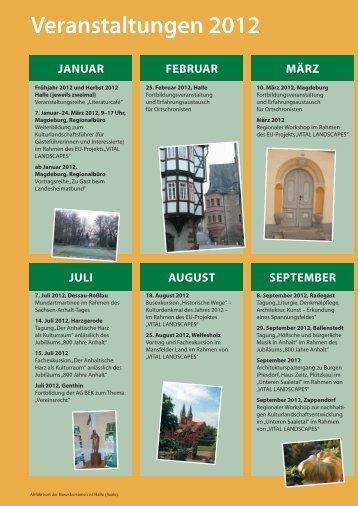 Veranstaltungen 2012 - Landesheimatbund Sachsen-Anhalt e.V.