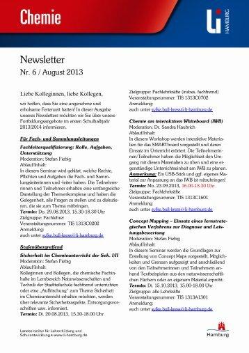 Newsletter Chemie Nr. 6 Juli 2013 (PDF 670 KB) - Hamburg