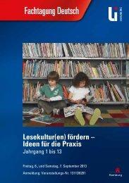 Fachtagung Deutsch - Landesinstitut für Lehrerbildung und ...