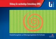 Bildung für nachhaltige Entwicklung (BNE) - Landesinstitut für ...