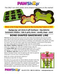 BONE-SHAPED BAKEWARE LINE