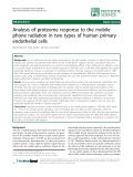 Analysis of proteome response to the mobile phone radiation in two ... - Page 2