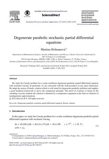Degenerate parabolic stochastic partial differential equations
