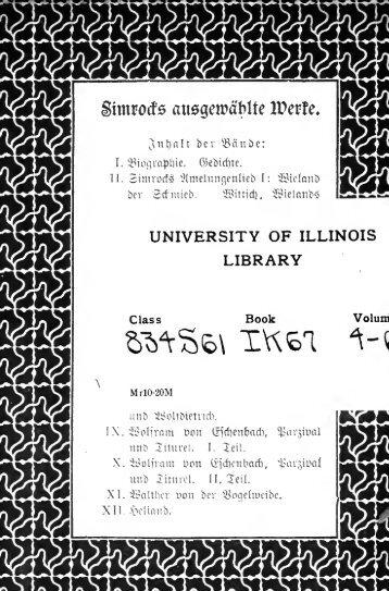 Karl Simrock's Ausgewählte Werke in zwölf ... - University Library