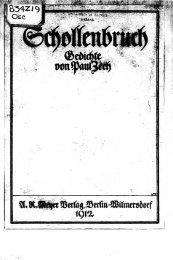 Schollenbruch [microform] : Gedichte - University Library